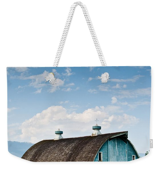 Blue Barn In The Stillaguamish Valley Weekender Tote Bag