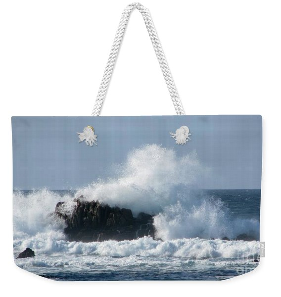 Blue Bay Breaker Weekender Tote Bag