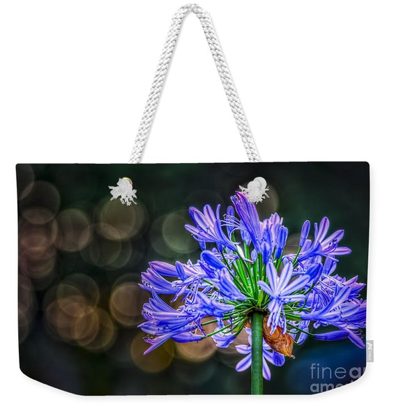Blue Blooms Weekender Tote Bag