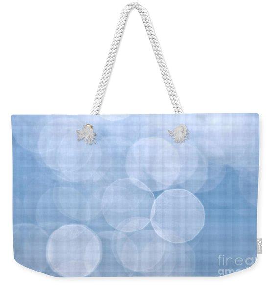 Blue Bokeh Background Weekender Tote Bag