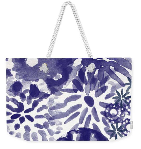 Blue Bouquet- Contemporary Abstract Floral Art Weekender Tote Bag