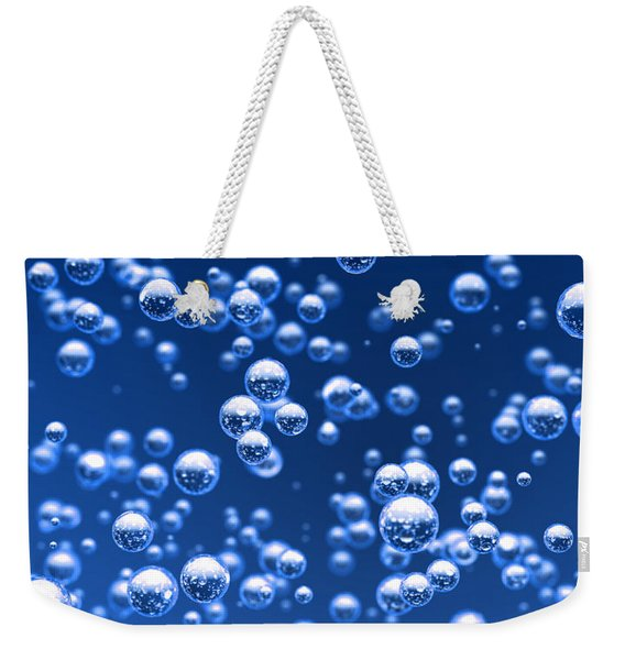Blue Bubbles Weekender Tote Bag