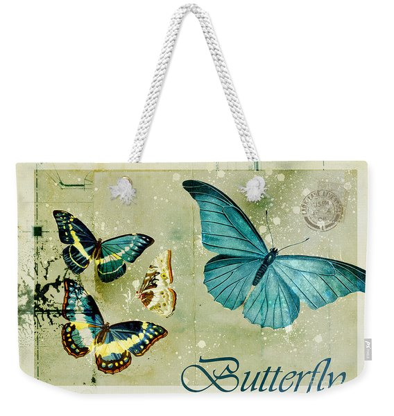 Blue Butterfly - S55c01 Weekender Tote Bag