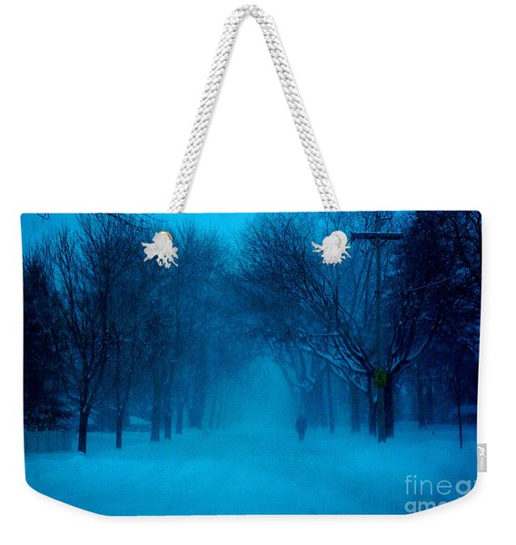 Blue Chicago Blizzard  Weekender Tote Bag