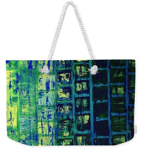Blue City 2 Weekender Tote Bag
