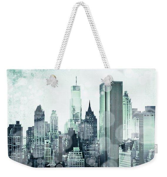 Blue City Beams Weekender Tote Bag
