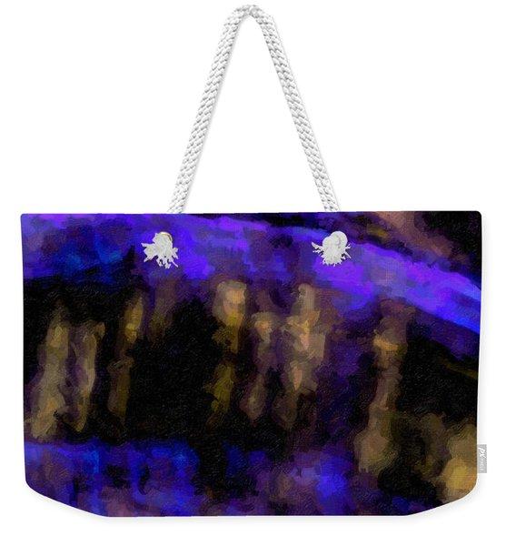 Blue Cliff Weekender Tote Bag