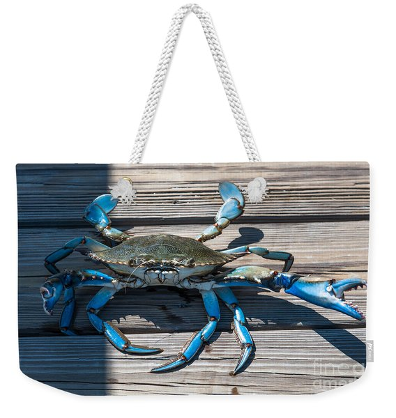 Blue Crab Pincher Weekender Tote Bag