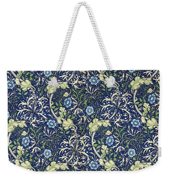 Blue Daisies Design Weekender Tote Bag