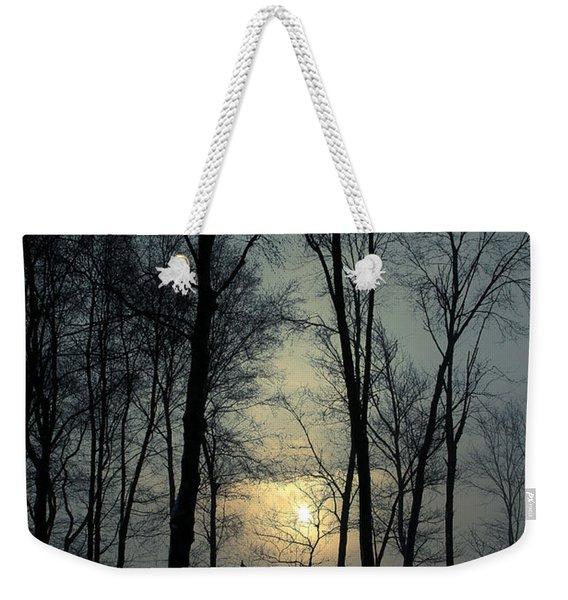 Blue Daybreak Weekender Tote Bag