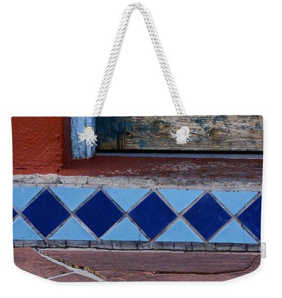 Blue Door Colorful Steps Santa Fe Weekender Tote Bag