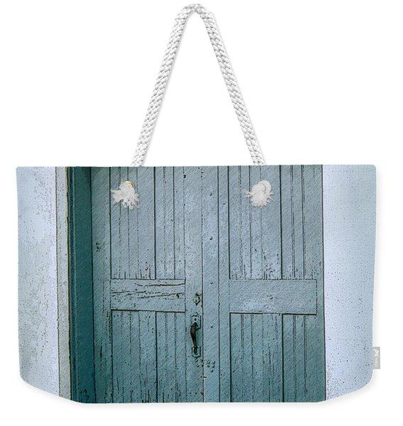 Blue Doors On Brewer Street Weekender Tote Bag