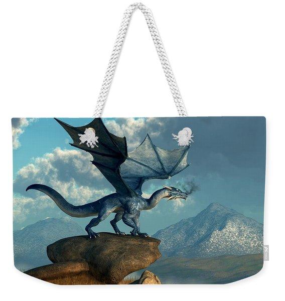 Blue Dragon Weekender Tote Bag