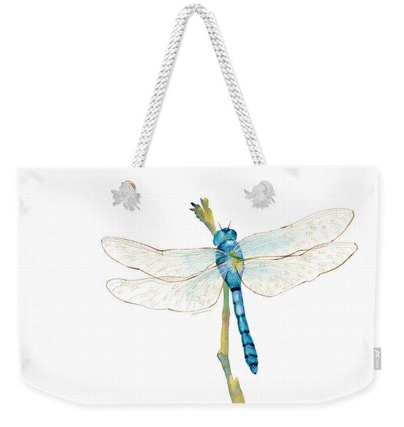 Blue Dragonfly Weekender Tote Bag