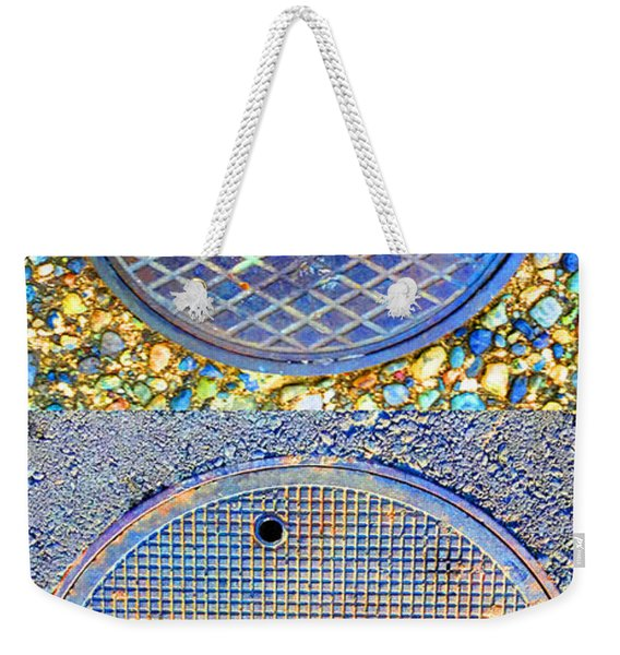 Blue Drains Weekender Tote Bag