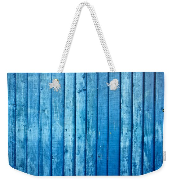 Blue Fence Weekender Tote Bag