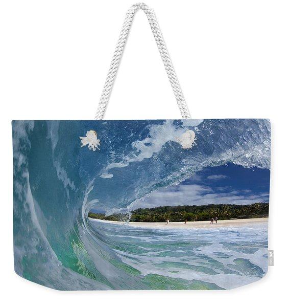Blue Foam Weekender Tote Bag