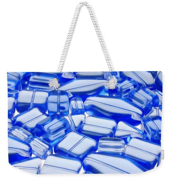 Blue Glass Beads Weekender Tote Bag