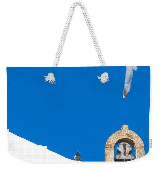 Blue Gull Weekender Tote Bag