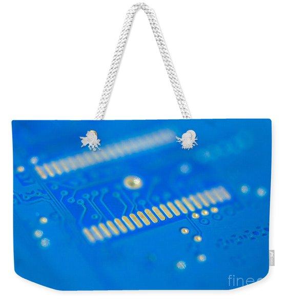 Blue Hard Drive Weekender Tote Bag