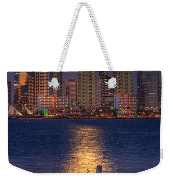 Blue Heron Moon Weekender Tote Bag