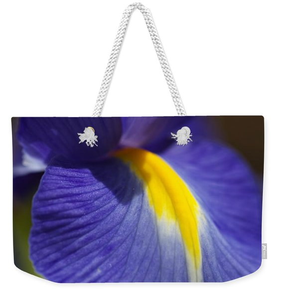 Blue Iris With Yellow Weekender Tote Bag