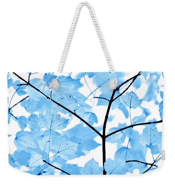Blue Leaves Melody Weekender Tote Bag