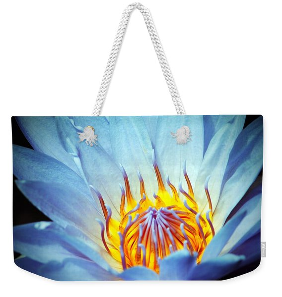 Blue Lotus Weekender Tote Bag