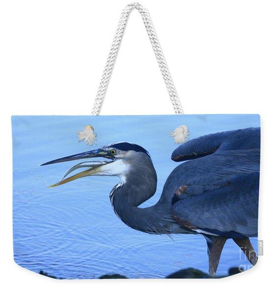 Blue Heron Gulp Weekender Tote Bag