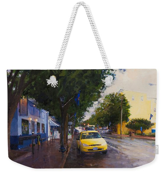 Blue Moon On A Rainy Day Weekender Tote Bag