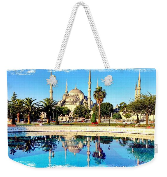 Blue Mosque Fountain Weekender Tote Bag