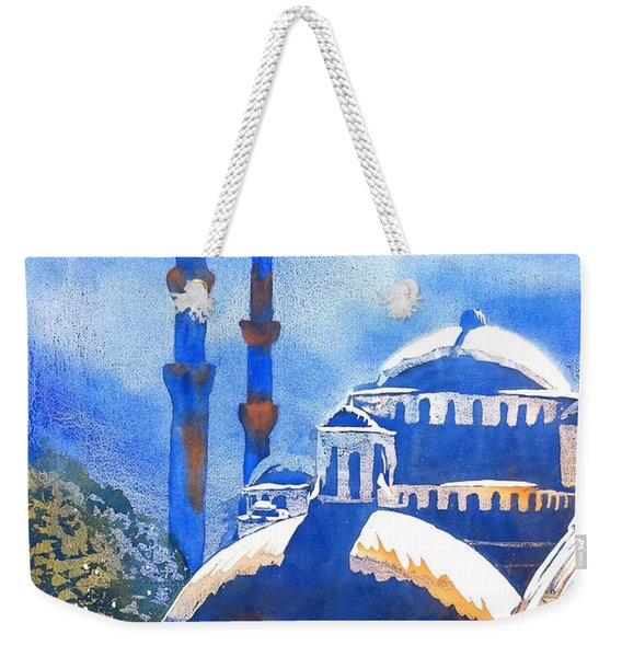 Blue Mosque In Blues Weekender Tote Bag