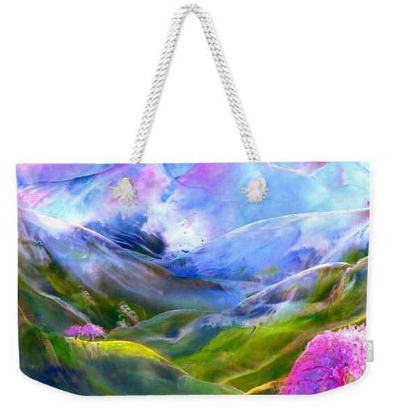 Blue Mountain Pool Weekender Tote Bag