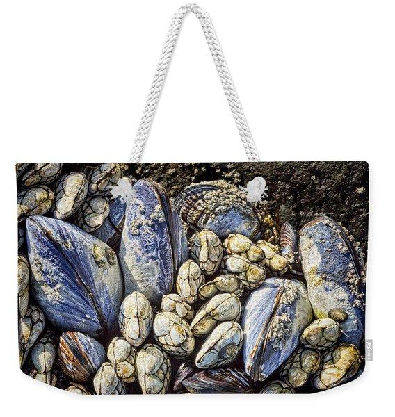 Blue Mussels Weekender Tote Bag