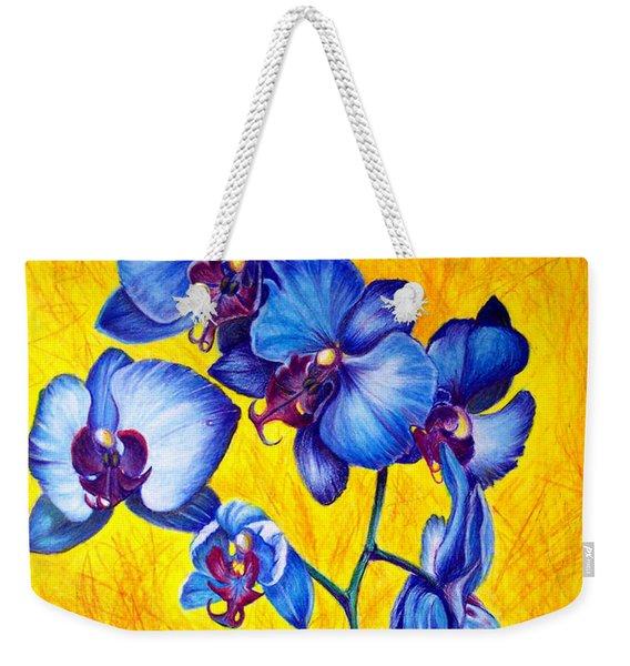 Blue Orchids 1 Weekender Tote Bag