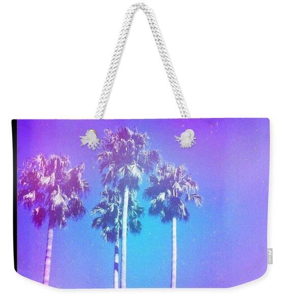 Blue Palms Weekender Tote Bag