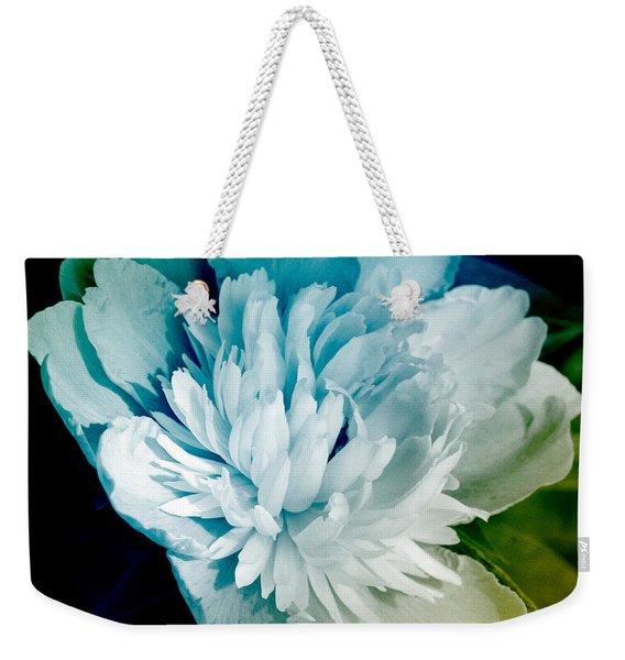 Blue Peony Flower Art Weekender Tote Bag