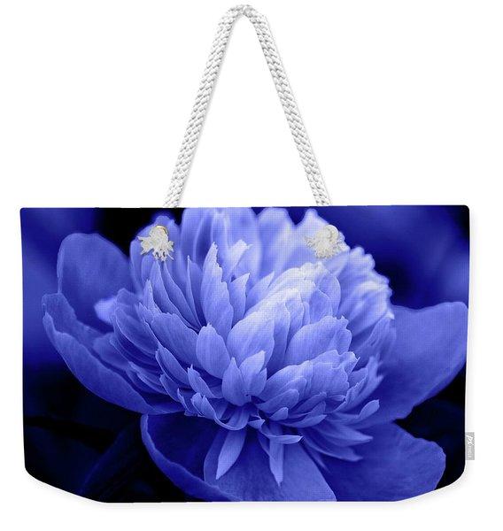 Blue Peony Weekender Tote Bag