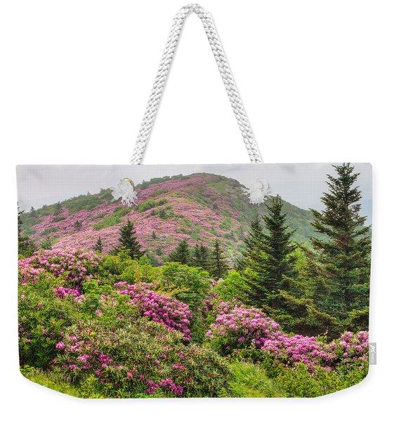 Blue Ridge Mountain Rhododendron - Roan Mountain Bloom Extravaganza Weekender Tote Bag