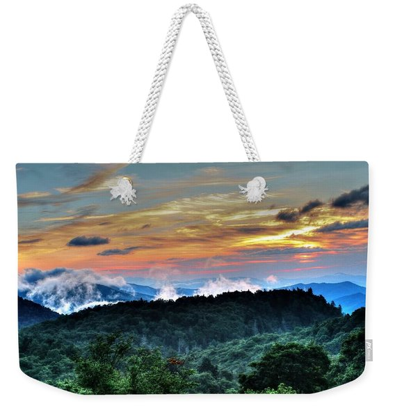 Blue Ridge Mountain Sunrise  Weekender Tote Bag