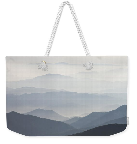 Blue Ridge Mountains View From Roan Mountain Balds Weekender Tote Bag