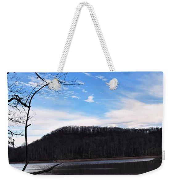 Blue Skies Over Beech Fork Lake Weekender Tote Bag