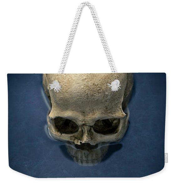 Blue Skull Weekender Tote Bag