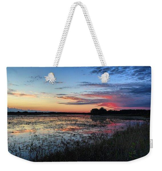 Blue Sunset Over The Refuge Weekender Tote Bag