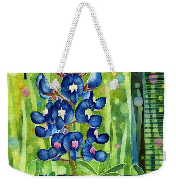 Blue Tapestry Weekender Tote Bag
