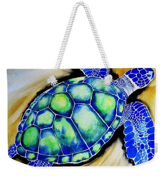 Blue Turtle Weekender Tote Bag