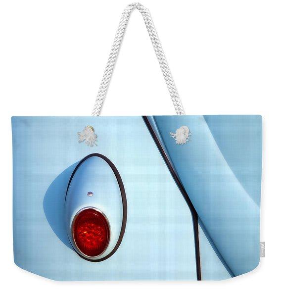 Blue Vw Bug Taillight Weekender Tote Bag