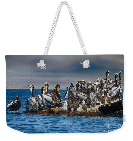 Blue Water Weekender Tote Bag