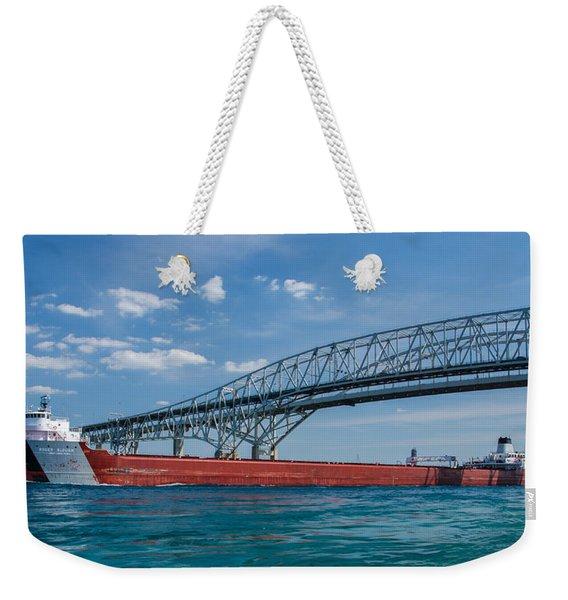 Blue Water Passage Weekender Tote Bag