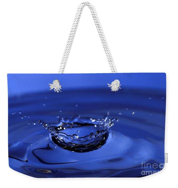 Blue Water Splash Weekender Tote Bag